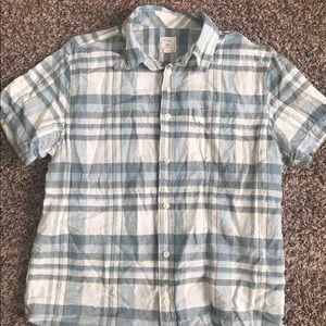 Men's casual button up short sleeve shirt